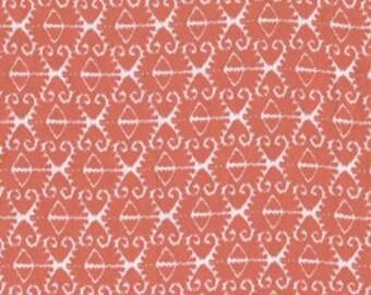 Coral ikat , Michael Miller Fabrics 1/2 yd total