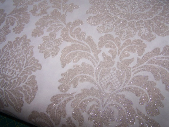 NEW DELOVELY DAMASK in LINEN from Michael Miller Antiquity Collection 1 yard