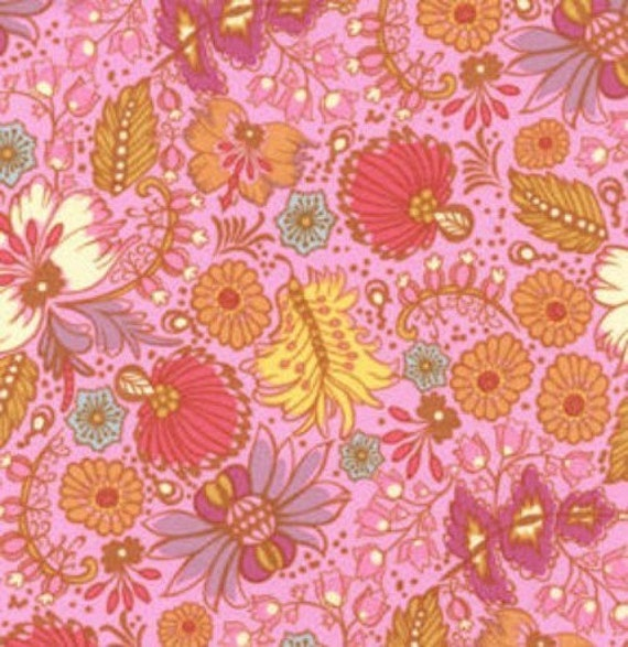 SALE........25% off Anna Marie Horners, Little folks voile, Coloring garden BERRY 1 yd total