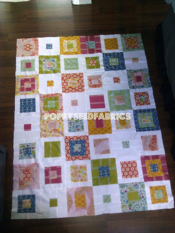 Quilt Kit top, Skipping Squares quilt pattern by Cluck Cluck Sew, You choose your FQ fabric