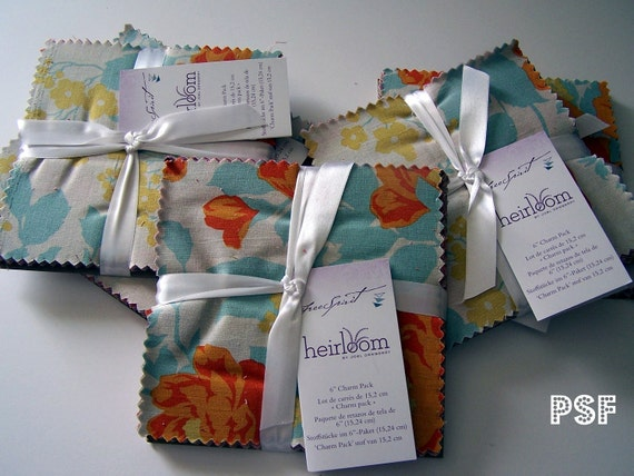 Last one, Heirloom by Joel Dewberry -full collection,  pre-cut CHARM PACK -Square 30 6 x 6 pieces