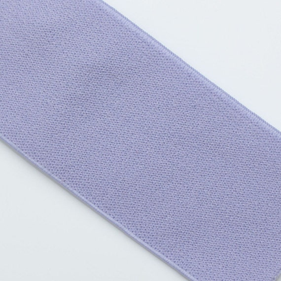 "LAST ONE, Light Purple Elastic banding, 1.5"" wide, goes great with steel orchid ruffle fabric, 1 yd 5.5"""