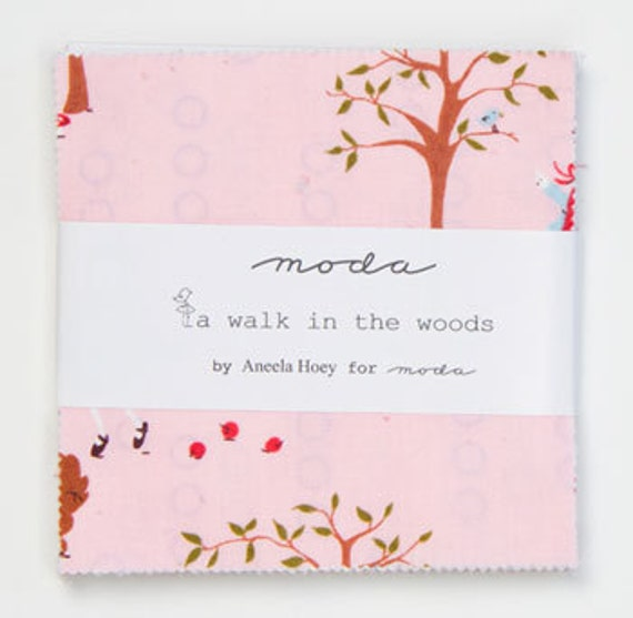 "SALE.....10% Aneela Hoey A Walk in the Woods by Moda fabrics, Pre-cut 5"" charm pack (2) total"