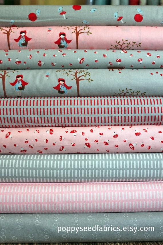SALE....10% OFF Walk in the Woods from Aneela Hoey for Moda, Whisper Cloud Half yard bundle, 8 total