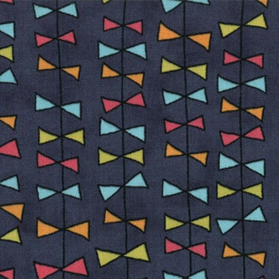 Lucy's Crab Shack by by Sweetwater for Moda Fabrics, Kite Ties Deep sea 1/2 yard total