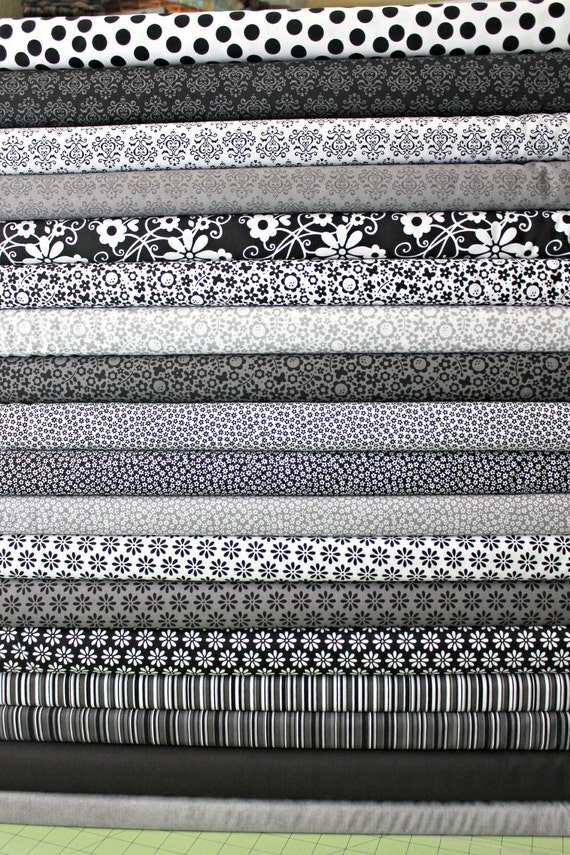 SALE.....10% OFF Riley Blake and Doodlebug designs, ALL in Stock fabrics from Tuxedo collection, Fat quarter bundle, 19 total