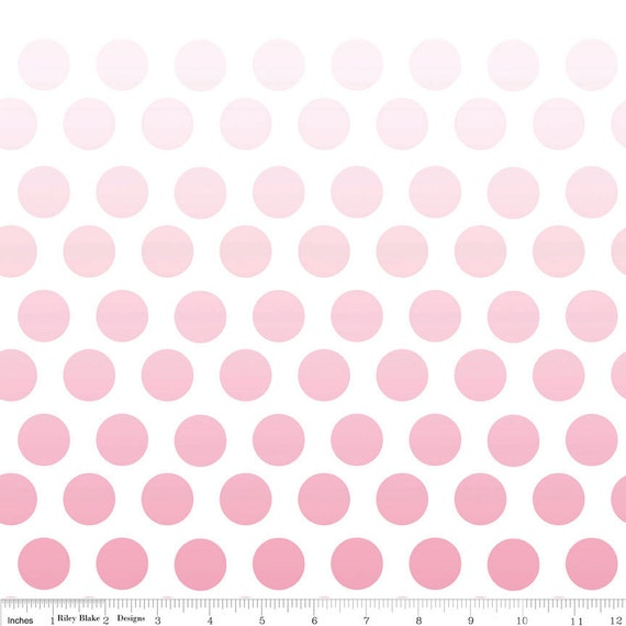 LAST ONE, Ombre Dots in Pink  by Riley Blake, 1/2 yard total