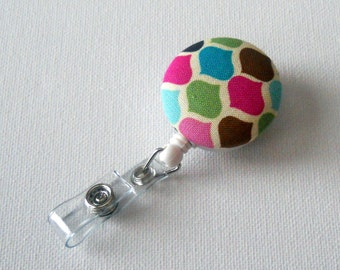 Rainbow Diamond - Retractable ID Badge Holder - Name Badge Holder - Nursing Badge Reel - RN Badge - Cute ID Badge Reel