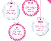 "Lollipop Party - Personalized DIY printable 2"" party circles"