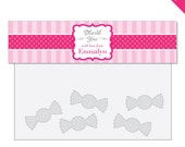 Pretty In Pink Party - Personalized DIY printable treat bag label
