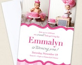 Pretty in Pink Party Photo Invitations - Professionally printed *or* DIY printable