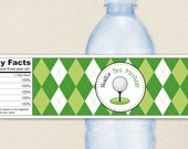 Golf Party - 100% waterproof personalized water bottle labels
