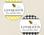 Bumblebee Party - Custom stickers - Sheet of 12 or 24
