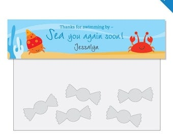 Under the Sea Party - Personalized DIY printable treat bag label