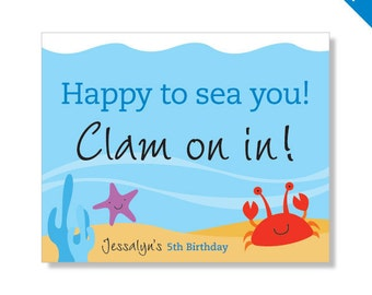 Under the Sea Party - Personalized DIY printable sign