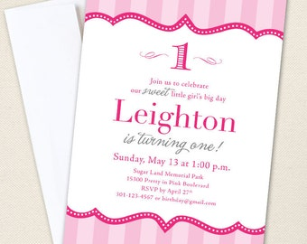 Pretty in Pink Party Invitations - Professionally printed *or* DIY printable