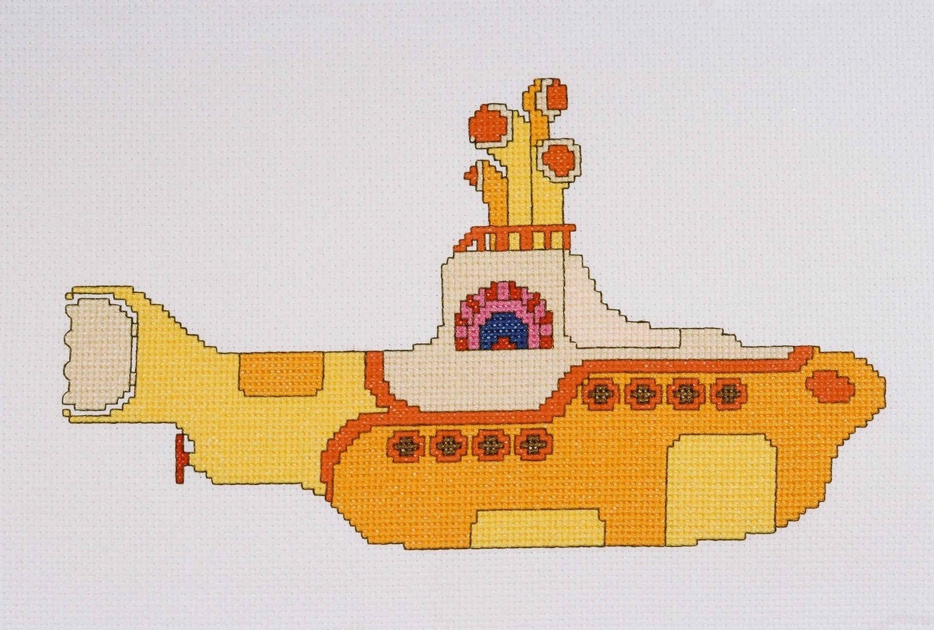 pdf version beatles yellow submarine counted cross stitch