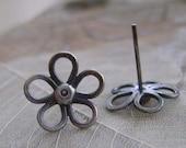 Sterling Silver Daisies Post Earrings