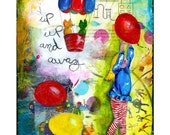 Mixed Media Painting - Up Up and Away