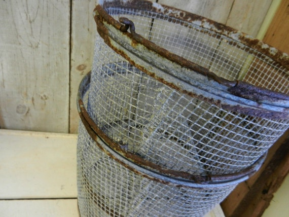 Wire mesh baskets fish baskets set of by for Fish wire basket