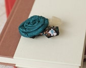 Teal and Tulle-Cecilia Street Designs Twisted Rosette Clip