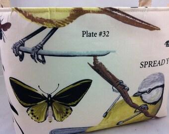 """Large Reversible Fabric Bin """"Wing Study"""" Botanika Collection"""