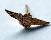 14k aviator wings pin or tie tac