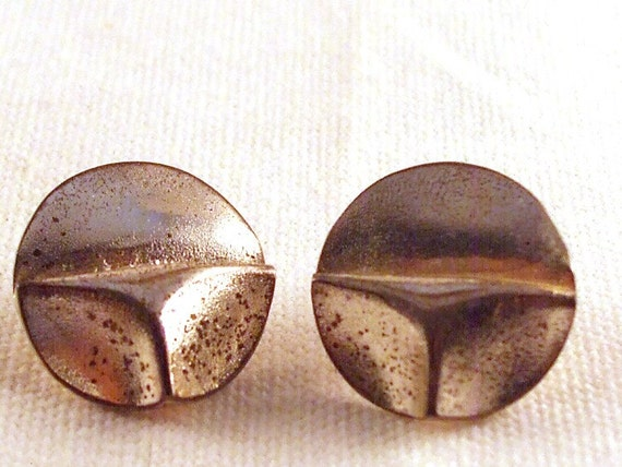 CLEARANCE SALE Sterling Silver Liquid Metal Space Age Lapponia Earrings