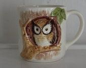 Vintage Ceramic Owl Mug