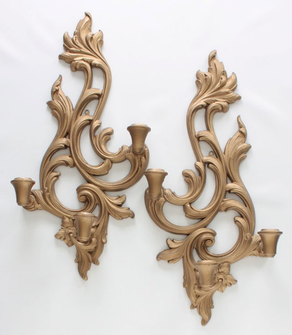 Antique Wood Wall Sconces : Etsy - Your place to buy and sell all things handmade, vintage, and supplies