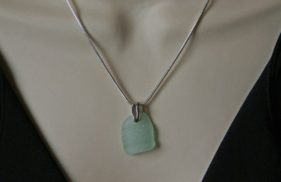 Bottle Top Sea Glass Necklace
