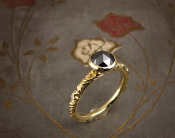 Victorian Solitaire (14K) - Made to Order