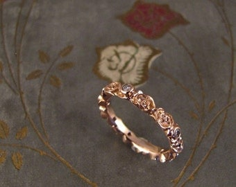 Rosy Diamond Eternity Ring (14K gold) - Made to Order