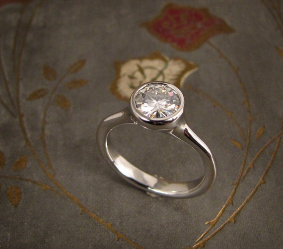 1ct Elegant Solitaire Engagement Ring - Made to Order