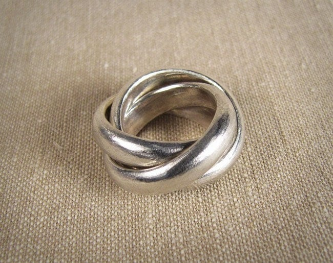 chunky rolling ring sterling silver made to order