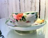 VTG Cutest Little Handpainted Floral Tea Cup