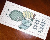 Handmade Cross-Stitched Bookmark - Bookworm