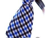NARA PARK Designer Pet Dog & Cat Gental Blue Bow Tie/Collar NEW
