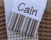 Burp cloth set//Personalized burp cloth set//boy burp cloth set //baby boy gift//baby shower 6