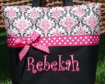 Personalized monogram girl diaper bag,baby shower gift,new baby gift