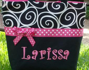 Personalized monogram girl diaper bag,baby shower gift