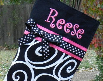 Personalized Christmas stocking//Personalized handmade Christmas stocking//monogrammed Christmas stocking