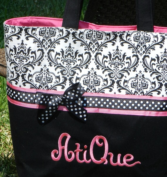 Personalized diaper bag, Personalized handmade diaper bag