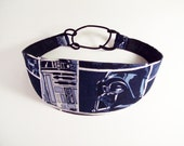 Cute Wide Headband for Women and Teens Featuring Star Wars comic book pattern with a black back.