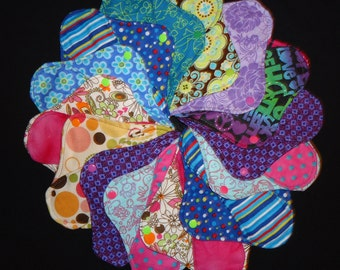 Set of Twelve Custom Cloth Pantyliners (lot of 12/ starter set) with free miniliner