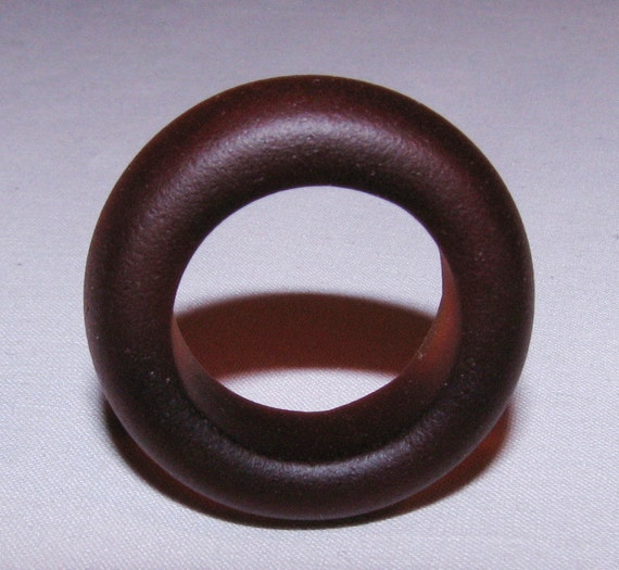 "Antique Sea Glass Bottle Ring ""Root Beer Brown"" Tumbled San Juan Island, Wa - Jewelry, Bead, Art, Craft, Pendant"