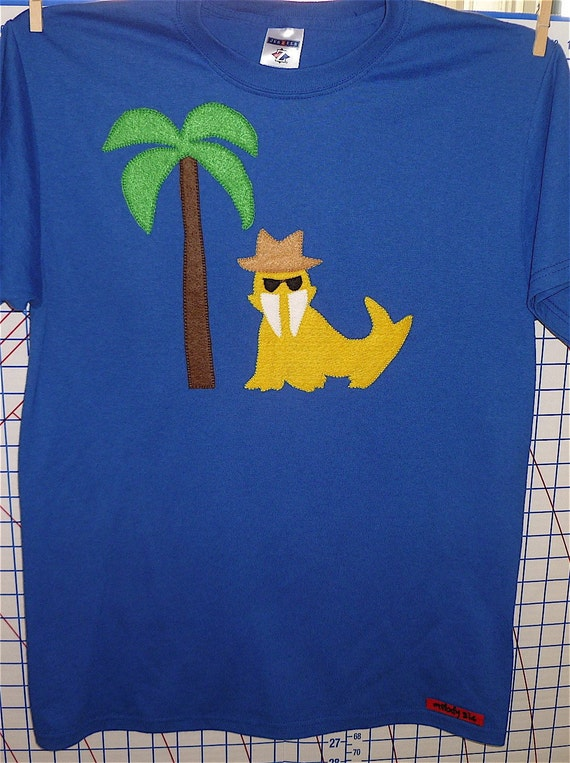 Walrus and Palm Tree- Size M Adult