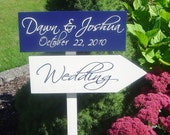 Custom Wedding Sign, Directional Arrow Signs For Beach Wedding, Ceremony, Reception or Special Event.