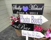 Custom Wedding Directional Arrow Signs.  Choose the sayings, colors and fonts to create your personalized sign for your Special Day.