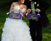 Wedding Chair Signs, Thank and You and/or Mr. and Mrs.  6 X 12 inches. Wedding Photo Thank You Cards, Reception Chair Signs.